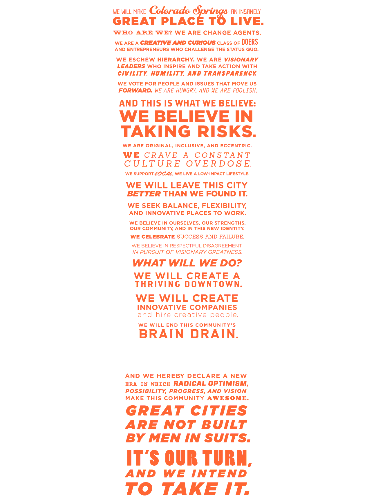 COLORADO SPRINGS MANIFESTO POSTER